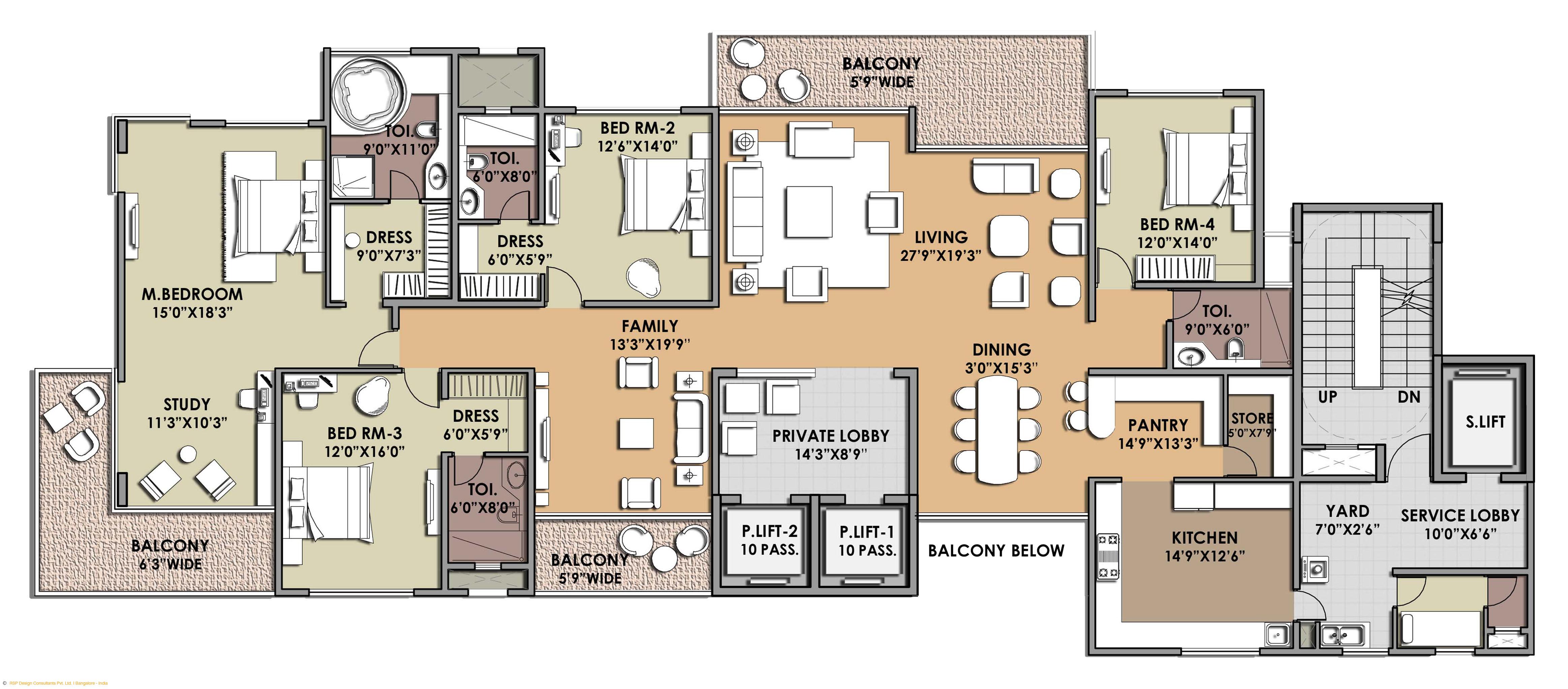4655x2046 Modern House Plans Apartment Building Plan Ikea Studio Room