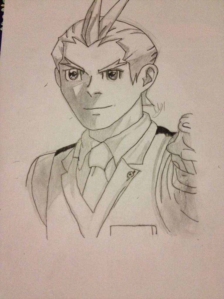 768x1024 Apollo Drawing Phoenix Wright Amino