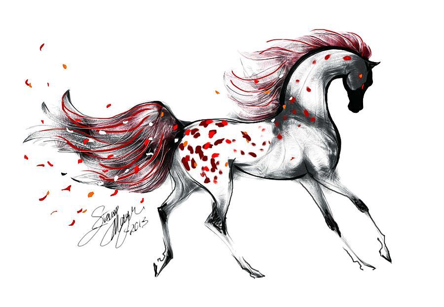 900x623 Appaloosa Rose Petals Horse Digital Art By Stacey Mayer