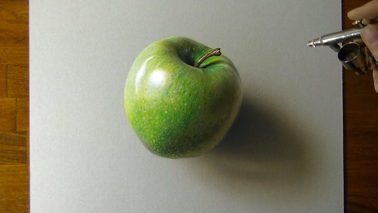 1280x720 Drawing A Green Apple