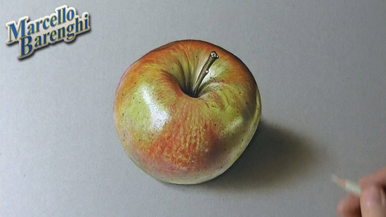 1548x871 Drawing Time Lapse Shiny Apple