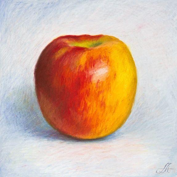 575x575 Oil Pastels. Apple. 8th Grade Studio Pastels, Oil