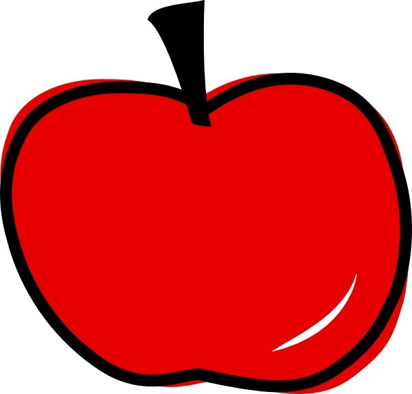 600x574 Red Apple Clip Art Free Vector In Open Office Drawing Svg ( Svg
