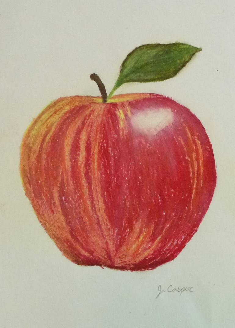 770x1073 Saatchi Art A Is For Apple Drawing By Jessica Casper
