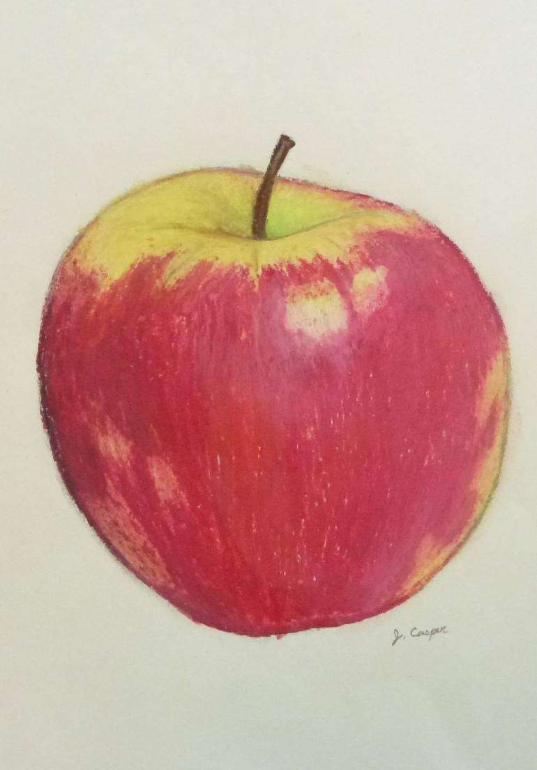 770x1104 Saatchi Art Blushing Apple Drawing By Jessica Casper