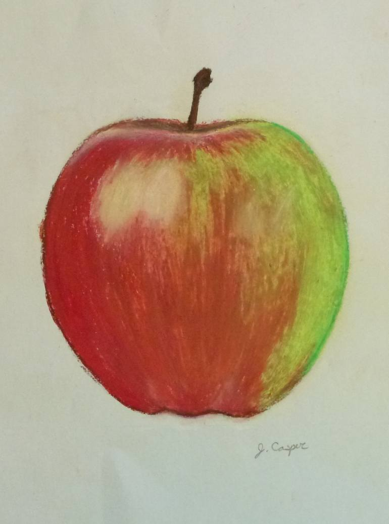 770x1037 Saatchi Art Sauce Apple Drawing By Jessica Casper
