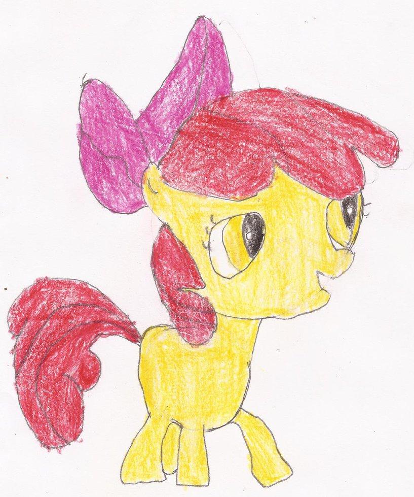 817x979 Applebloom Drawing By Kittyjewelpet78
