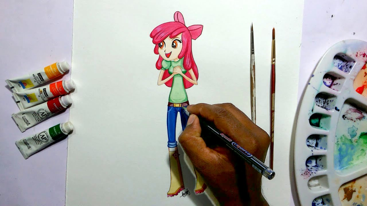 1280x720 How To Draw My Little Pony Equestria Girls Apple Bloom