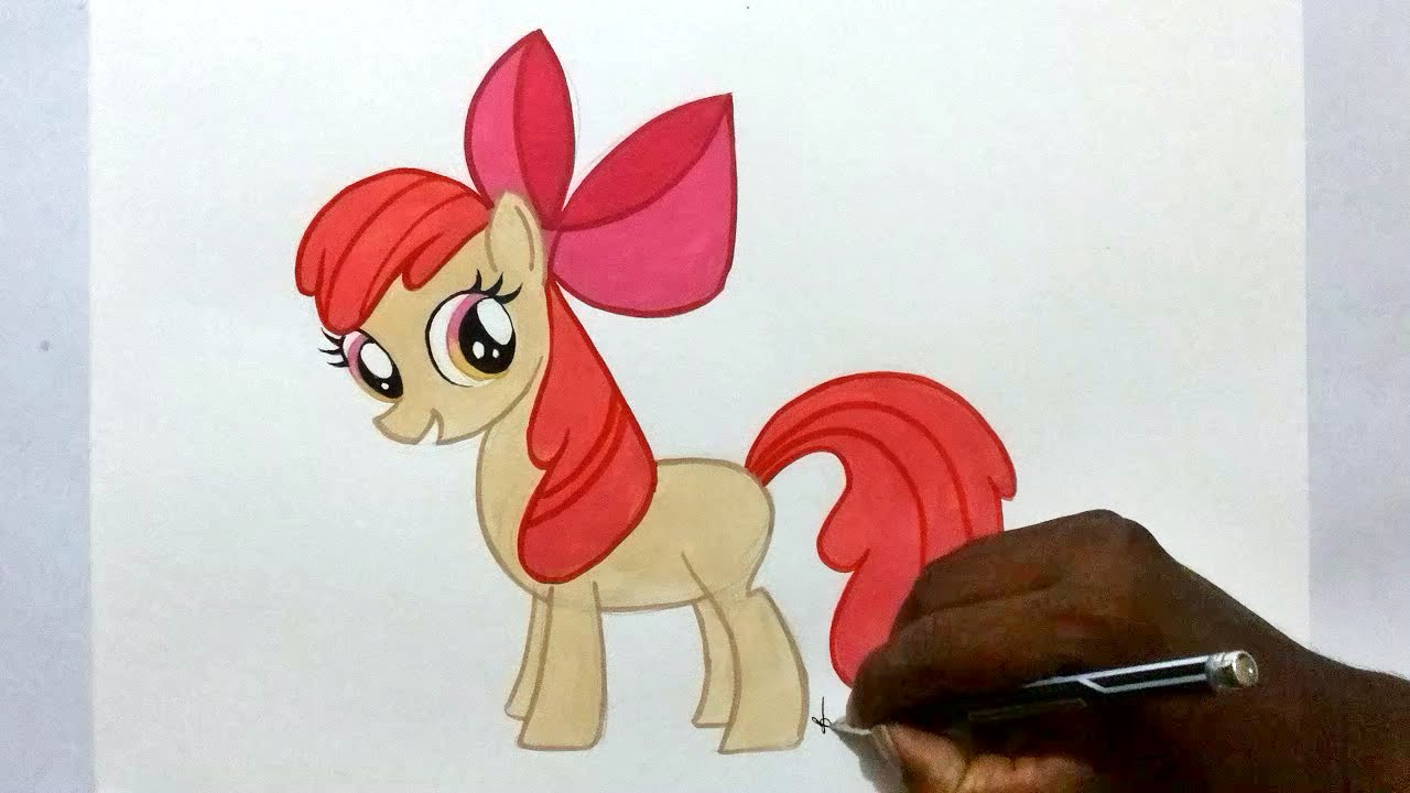 1280x720 How To Draw My Little Pony Apple Bloom Easy
