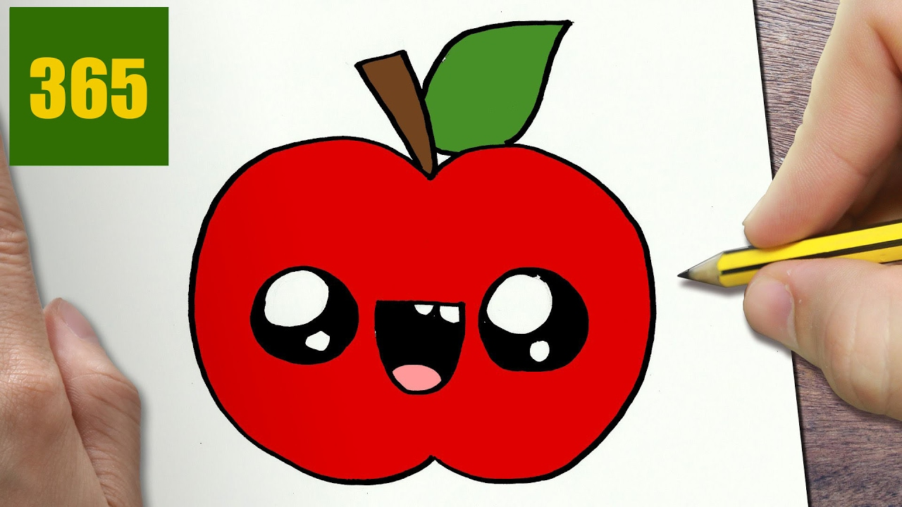 1280x720 How To Draw A Apple Cute, Easy Step By Step Drawing Lessons