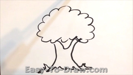 458x258 How Draw A Cartoon Apple Tree For Kids Easy
