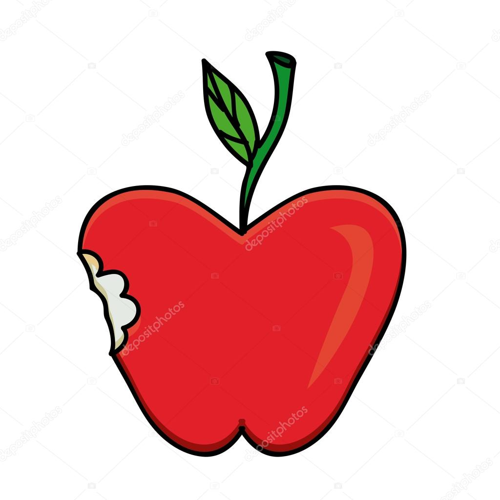 1024x1024 Apple Drawing Stock Vector Grgroupstock