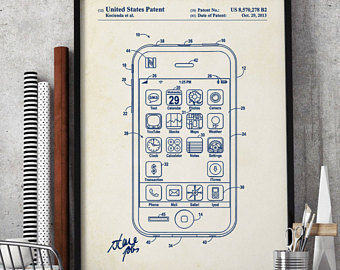 340x270 Iphone Patent Poster Etsy