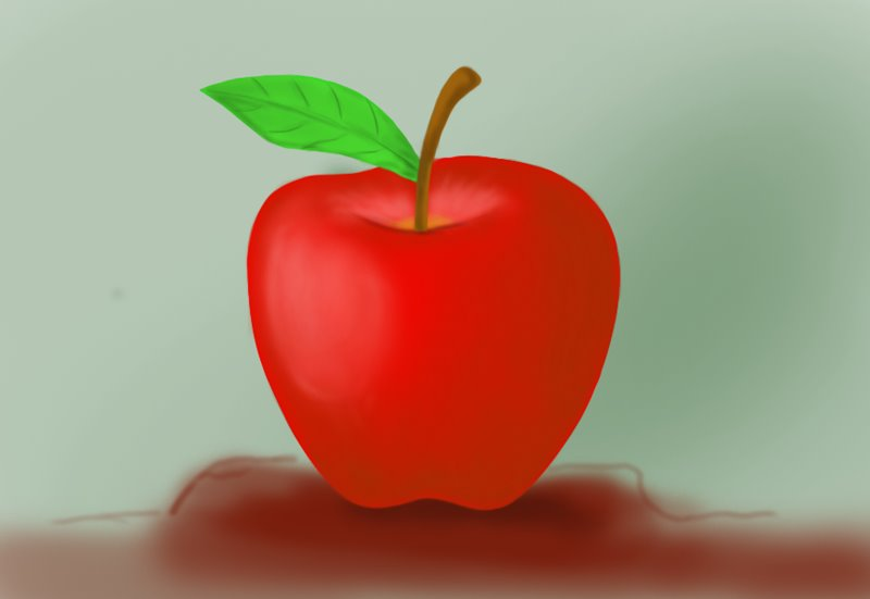 800x551 Learn How To Draw An Apple For Kids (Fruits) Step By Step