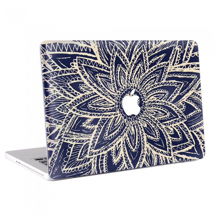 700x700 Abtract Flower Drawing Macbook Skin Decal