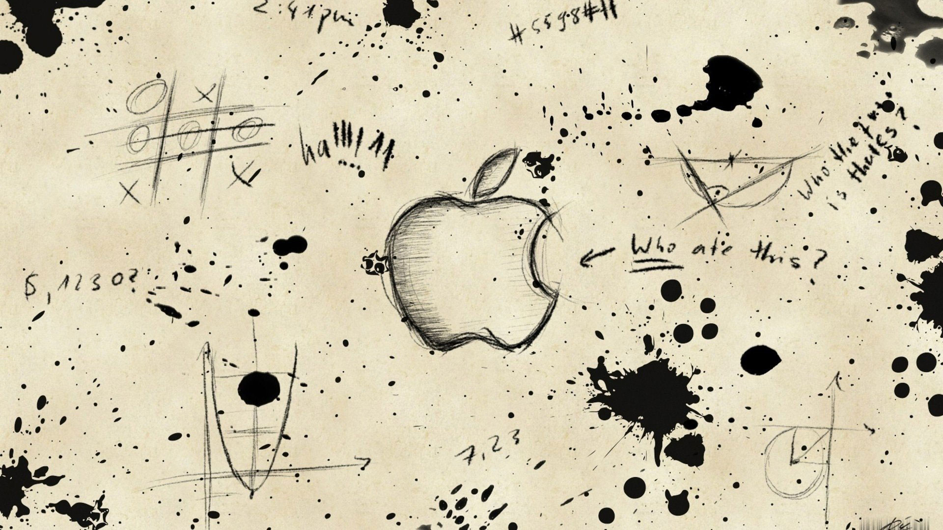 1920x1080 Beautiful Drawings By Pencil For Background Apple Logo Drawing