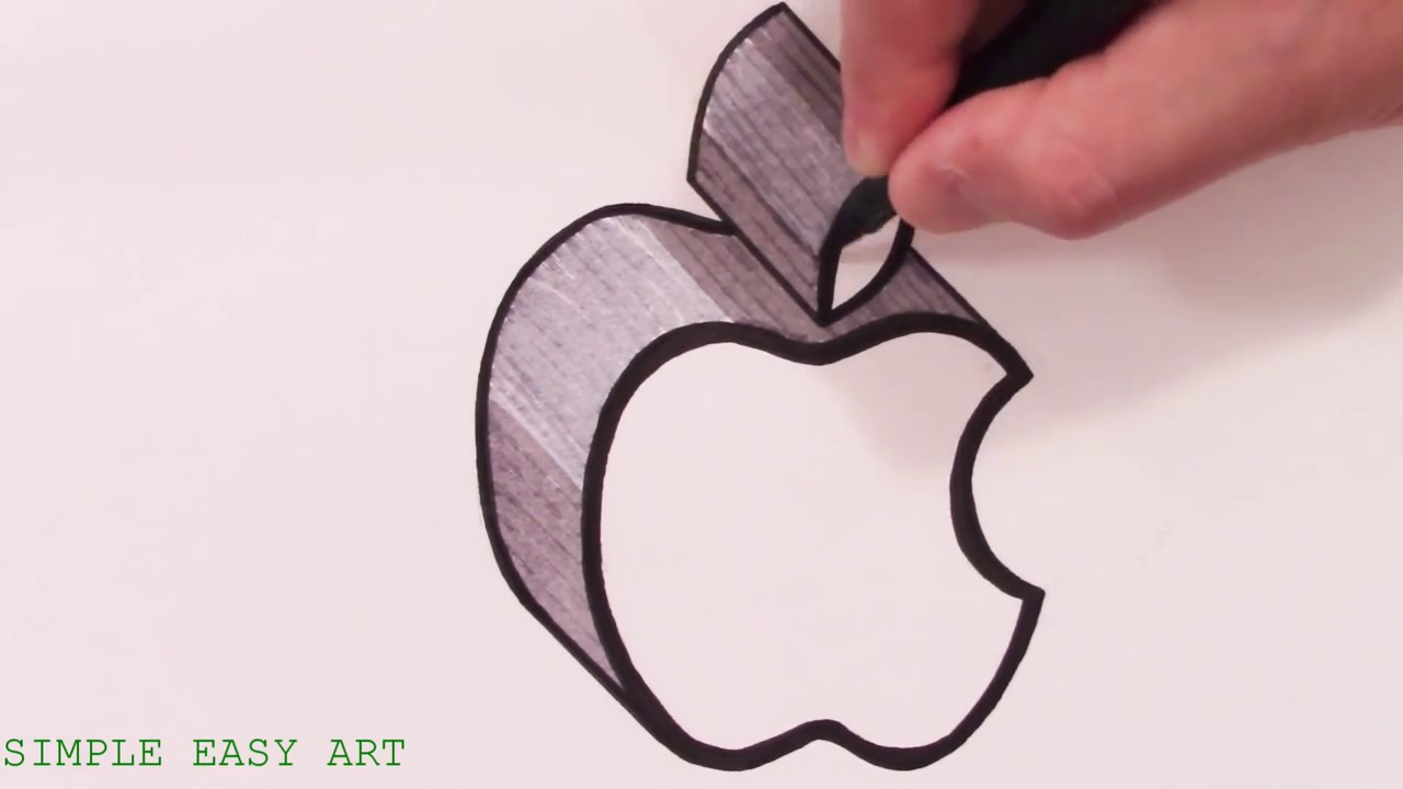 1280x720 How To Draw The Apple Logo In 3d