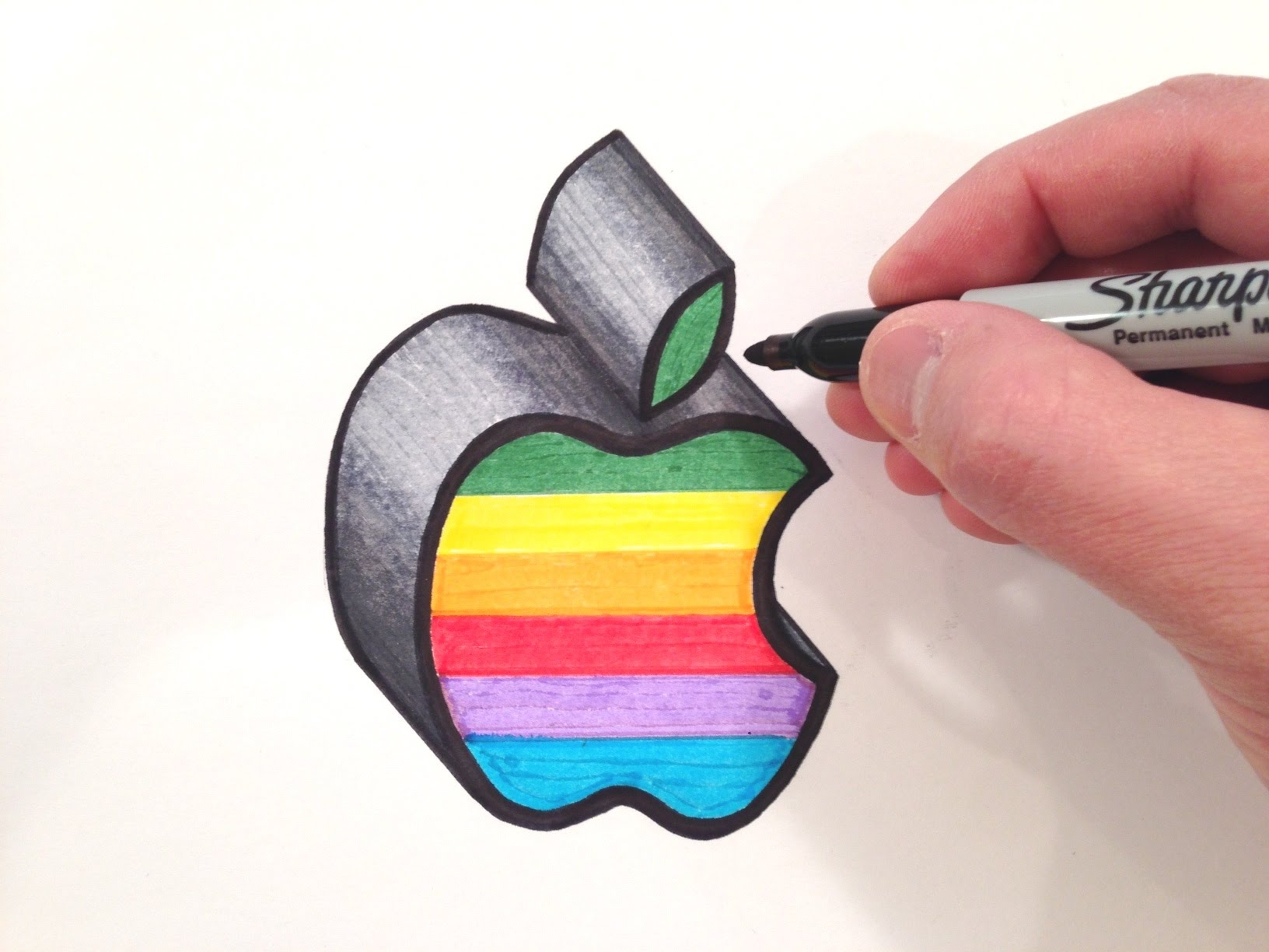 1632x1224 How To Draw The Apple Logo In Color