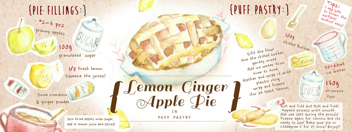 1200x450 Lemon Ginger Apple Pie By Joanne Joe