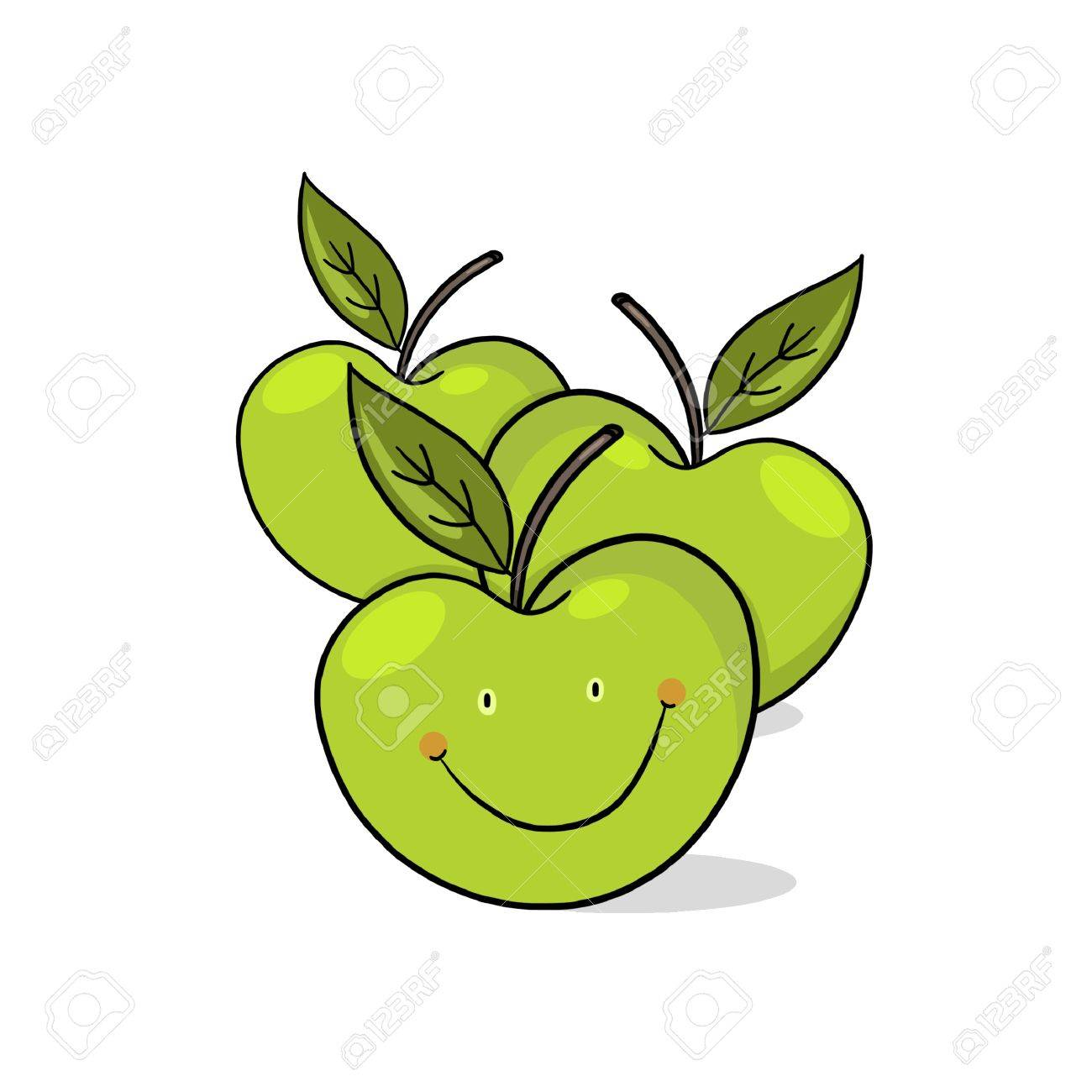 Apples Drawing at GetDrawings.com | Free for personal use Apples ...