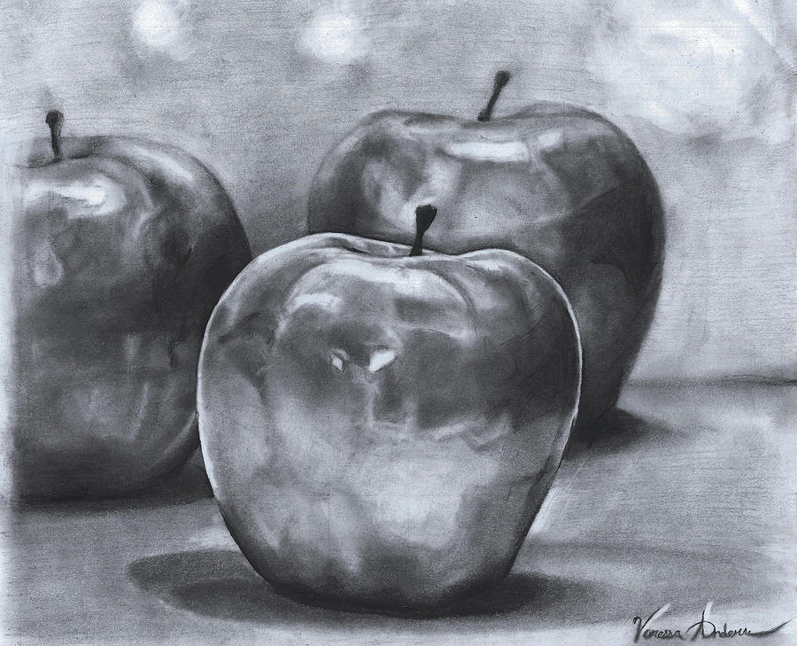 900x729 Apples Drawing By Vanessa Anderson