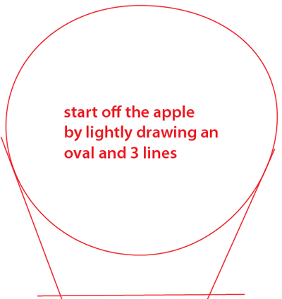 400x424 How To Draw Realistic Or Cartoon Apples With Easy Step By Step