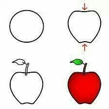 225x225 How To Draw An Apple Easy And Simple Guide Apples