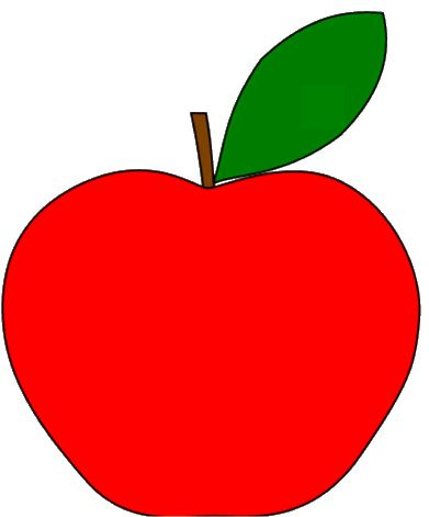 391x471 Simple Clipart Apples Drawing Of Apple Fruit Clipart Best