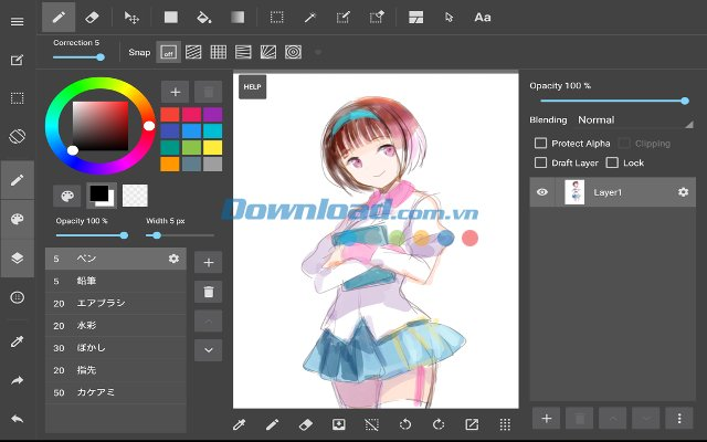 640x400 Manga Drawing Application On Android
