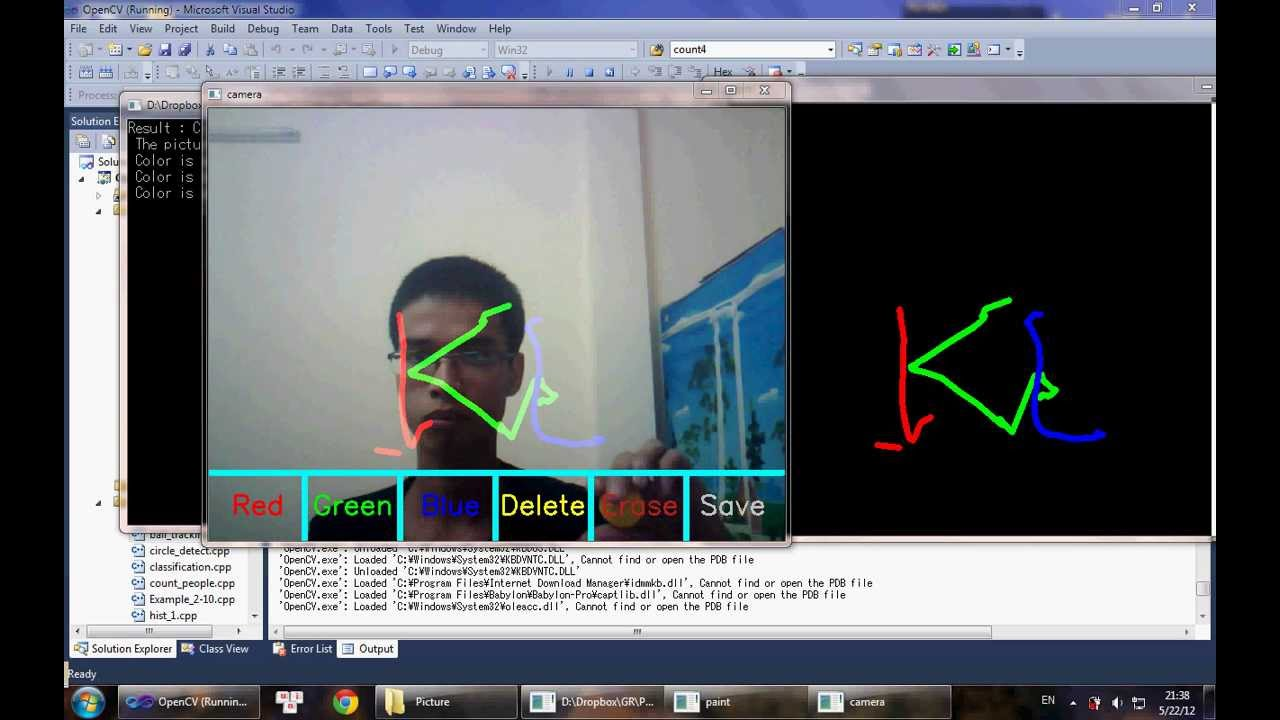 1280x720 Simple Opencv Application Drawing Using Camera