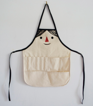 306x350 Plain Cotton Kids Drawing Apron With Pockets To Put Pens