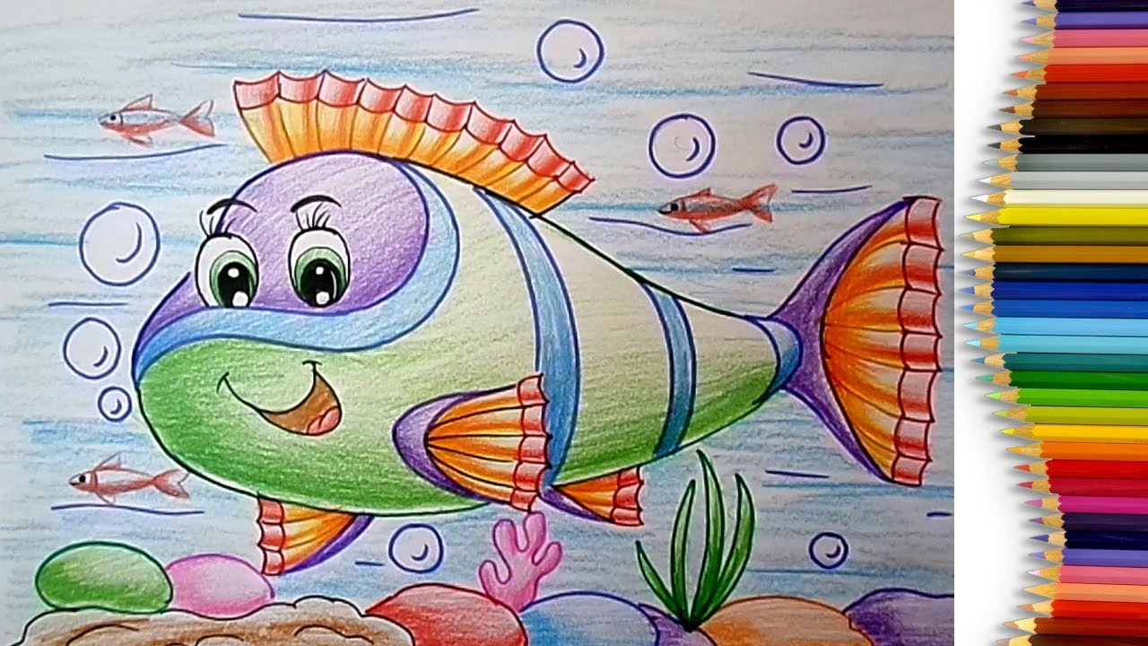 1280x720 How To Draw An Aquarium Fish Easy Step By Step