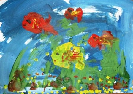 448x317 Aquarium Drawing For Kids Crafts For Kids
