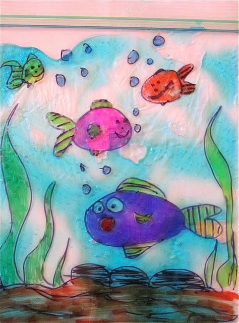 474x640 Diy Aquarium Large Ziploc Bag, Permanent Marker Blue Hair Gel