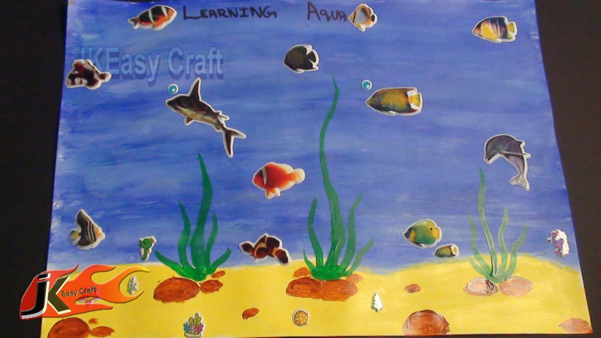 1920x1080 Draw Under Water Scene School Project For Kids Jk Easy Craft
