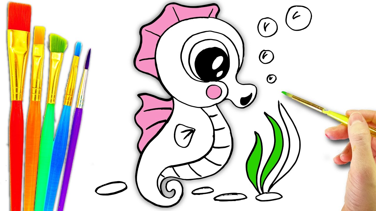 1280x720 Sea Animals Coloring Page L Aquarium Animals Drawing Pages
