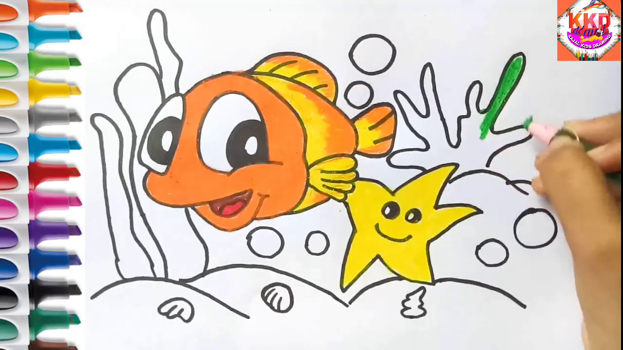 1280x720 How To Draw Aquarium Fishcoloring Page For Kids