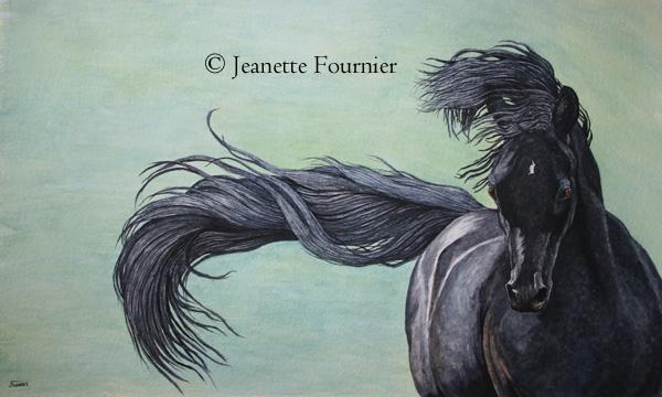 600x360 On The Drawing Board (Arabian Horse Art) Jeanette Fournier Fine Art