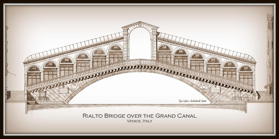 architectural drawings of bridges. Perfect Bridges 900x450 Rialto Bridge Venice And Architectural Drawings Of Bridges