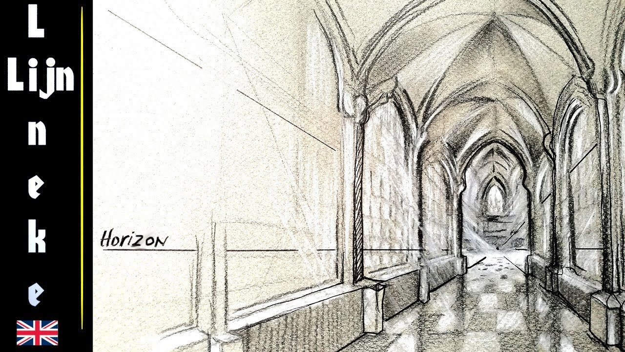 1280x720 Drawing Church Perspective Cross Arch Ceiling For Beginners