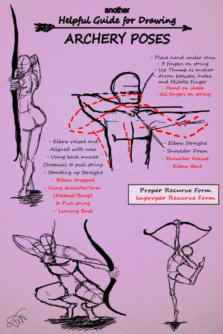 730x1095 Another Guide For Drawing Archery Poses By Jesskristen