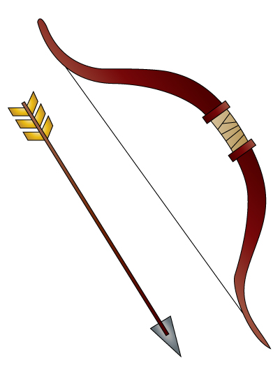 401x543 Best Photos Of Bow And Arrow Drawing