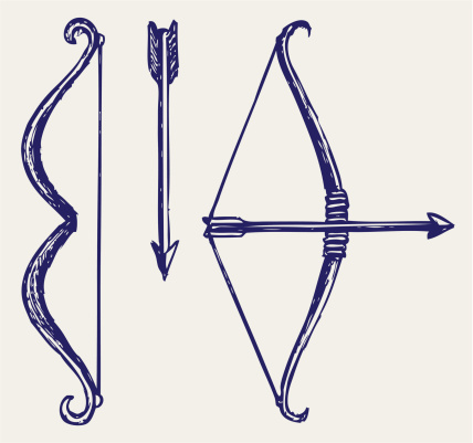 428x401 Bow And Arrow Vector Art 155240133 Style Vector
