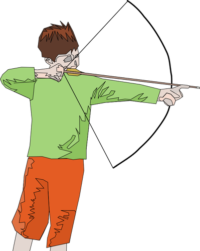 399x500 Archer Boy Abstract Drawing Public Domain Vectors