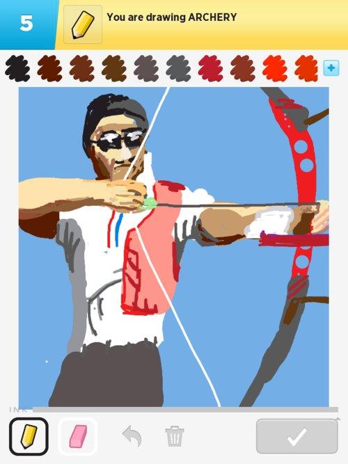 500x667 Archery Drawings