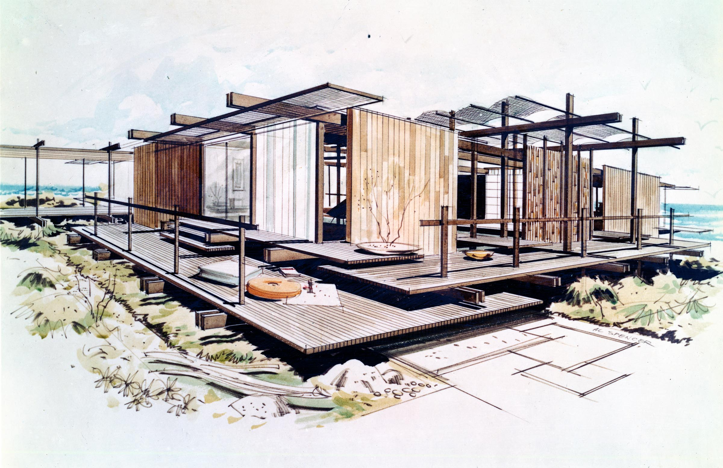 2400x1554 Modern Architecture Drawing Top Architectural Drawings