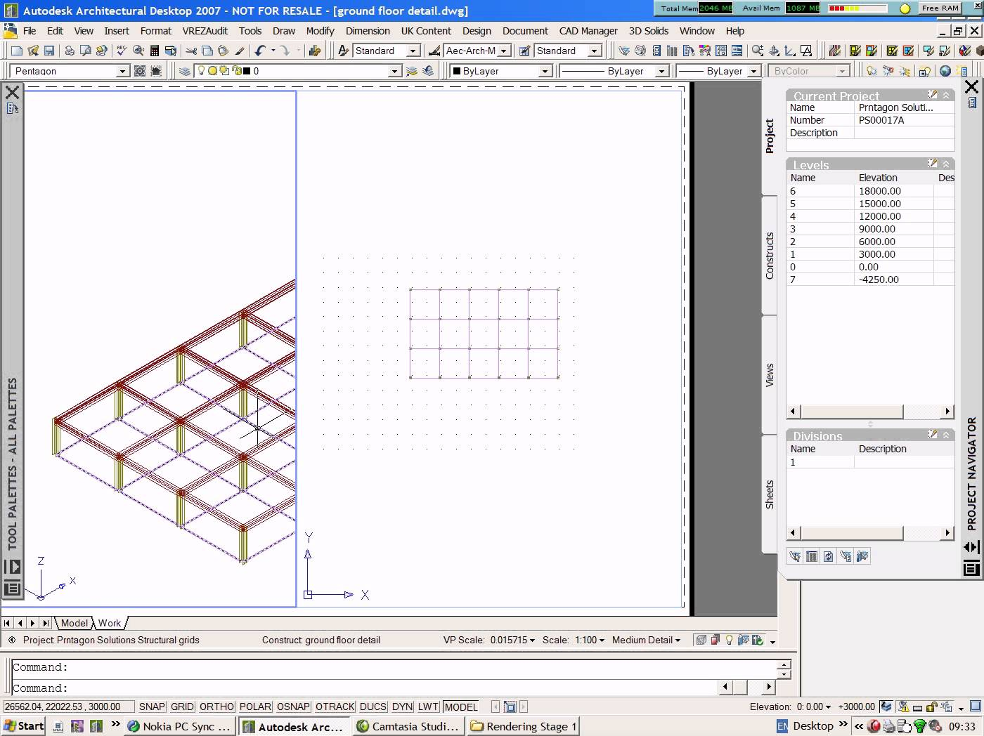 1400x1048 Creating Structural Members And Stairs In Autocad Architecture