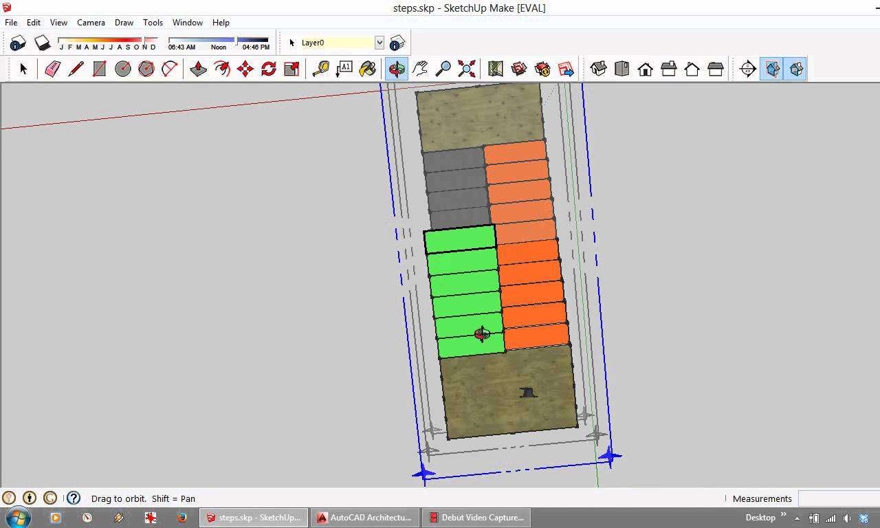 1280x768 Representing Stairs In Plan In Autocad And On Architectural