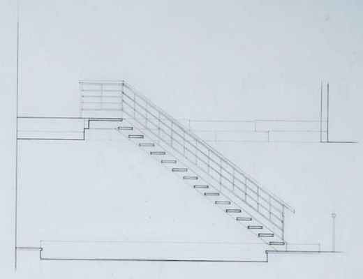 520x400 Stairs Architectural Section Drawing