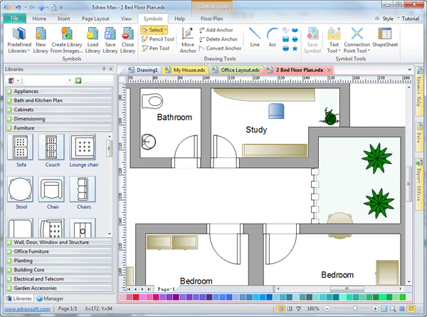 Architectural drawing symbols free download at getdrawings 600x445 2d drafting software malvernweather Image collections